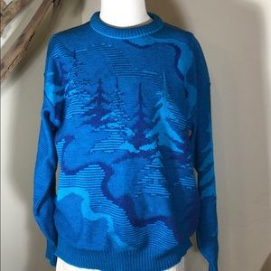 Vintage Demetre Woodland 100% wool sweater